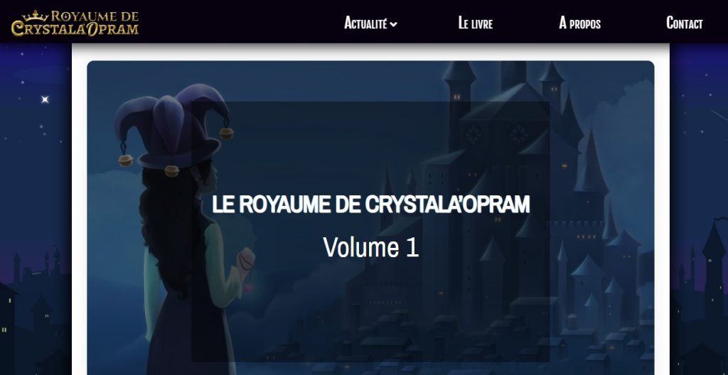 Capture d'écran du site
