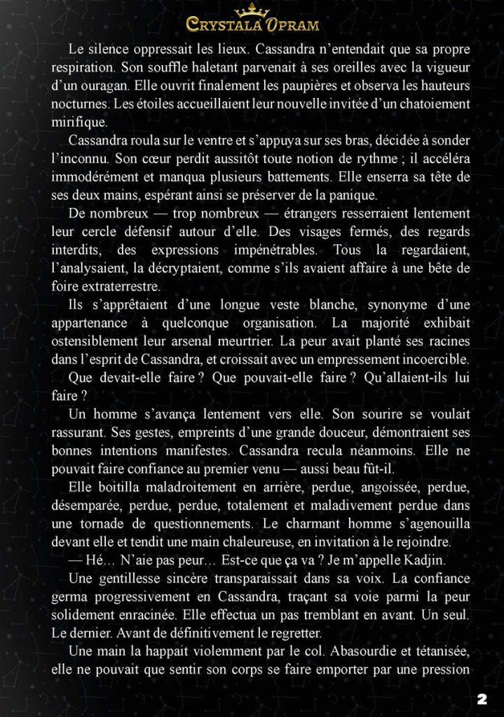 Prologue : deuxième page de l'extrait